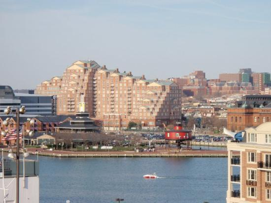 Baltimore, MD: A view across the harbor from historic Federal Hill