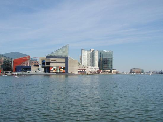 Across the harbor: the Baltimore Science Center and the Aquarium