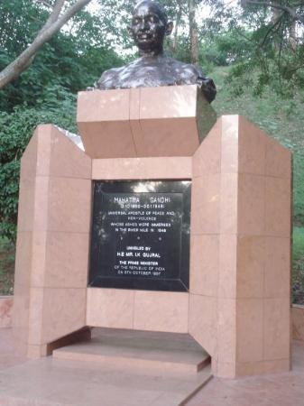 Kampala, Uganda: mahatma gandhi plaque at jinja, the source of the nile