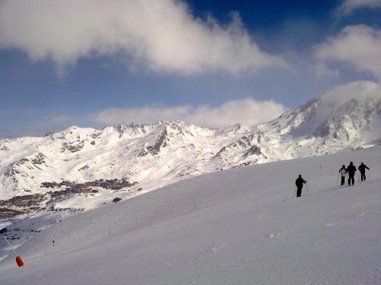 Val Thorens, Frankrike: 180 graden draaien naar t dal