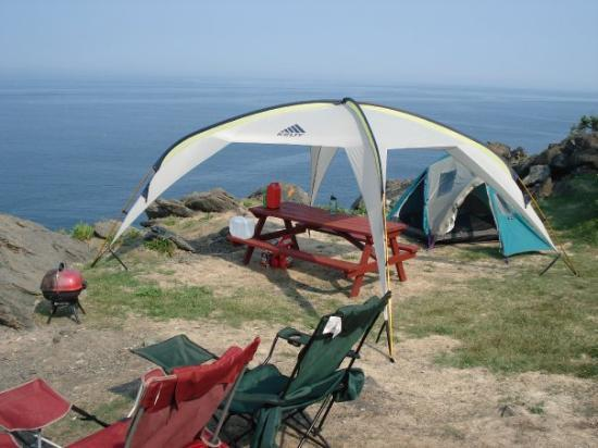 Grand Manan Canada Cliffside c&site at Hole in the Wall c&ground. Whales visited & Cliffside campsite at Hole in the Wall campground. Whales visited ...