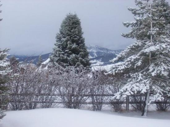 Bozeman, MT: While everyone is digging the car out I admire the view.