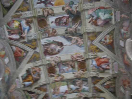 Vatikanske museer: Stole a shot of the Sistine Chapel ceiling.