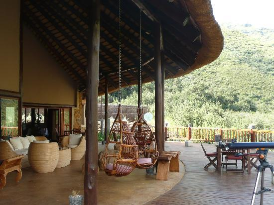 Maliba Mountain Lodge: The Main Lodge Deck