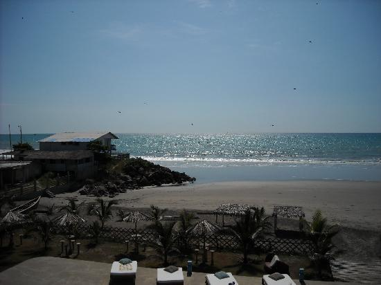 San Clemente, Equador: View from balcony