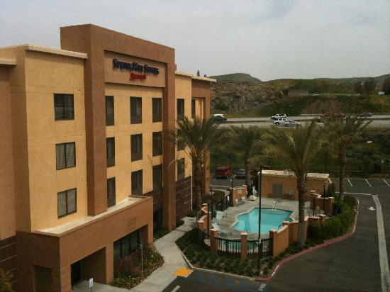 SpringHill Suites Corona Riverside: Our View From Room 404