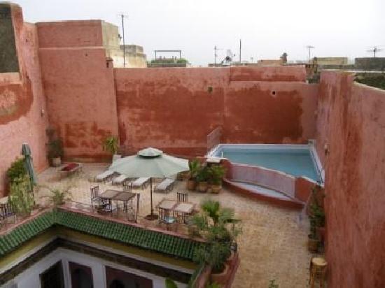 Riad El Ma: terrasse, détail