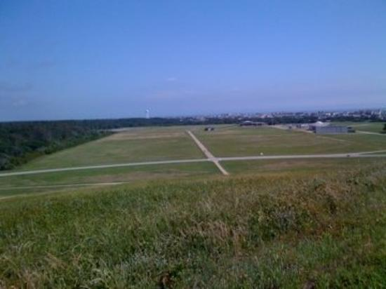 Looking down from the Hill at First Flight, Kitty Hawk