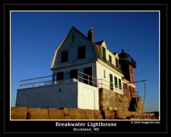 Ρόκλαντ, Μέιν: Breakwater Light House - Rockland, ME, United States