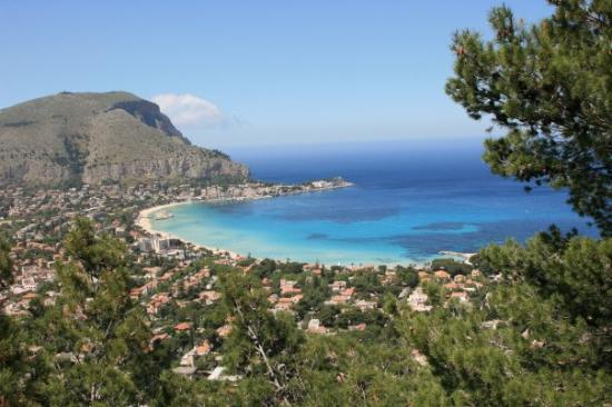 View Of Lido Di Mondello From Mt Pellegrino Palermo