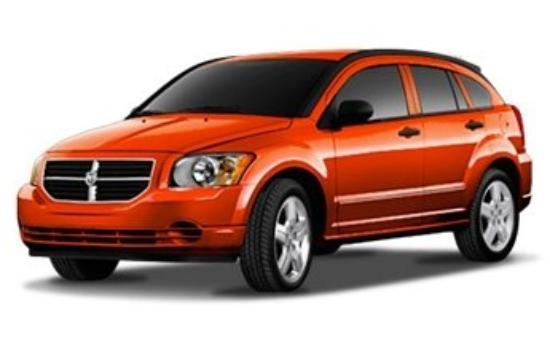 Belmont, NH: January 18 2008, my 2008 Dodge Caliber, new orange car!