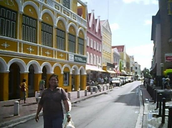 Curaçao: Downtown Curacao notice the colorful buildings and architecture.