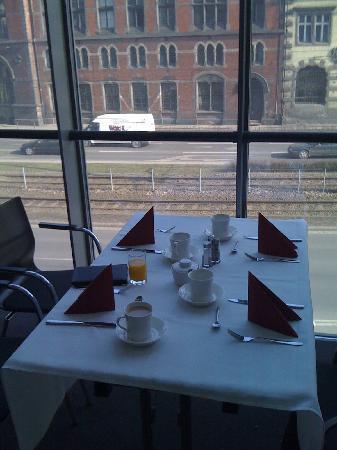 Europeum Hotel: View from temporary dining room