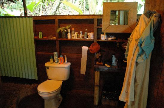 La Loma Jungle Lodge and Chocolate Farm: The bathroom is larger than ours back home!