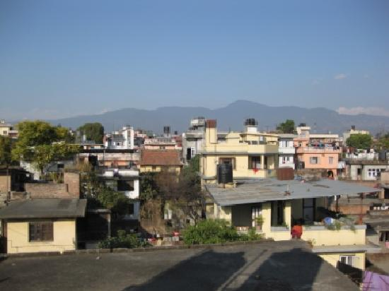 Family Guest House: View over Kathmandu