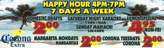 Las Playas Restaurant: Las Playas Daily Specials