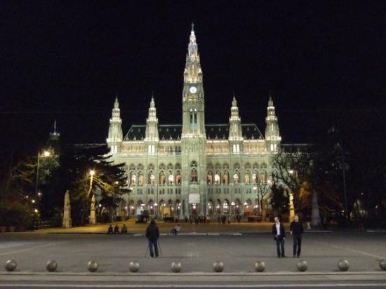 Parliament Building: Ajuntament de Viena (sembla una església o catedral, però no ho és).