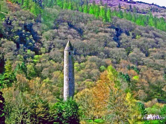 """""""The Holy Place""""  A very old Irish Round Tower near Wicklow, Irealnd.  Ireland 2004"""