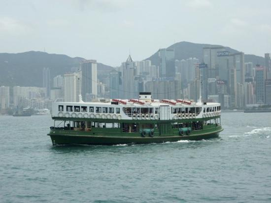 Star Ferry: I took the ferry from Kowloon to Hong Kong island
