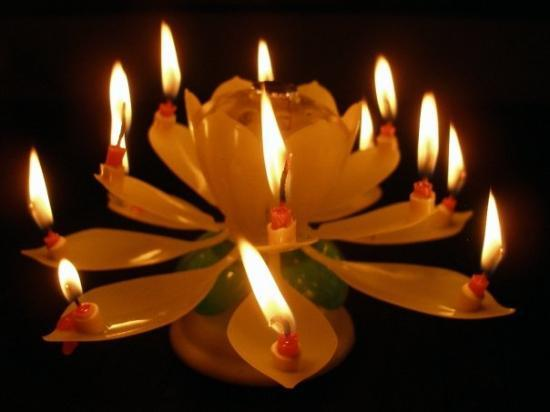 Lodi, CA: My B~Day Candle ~ From my best friend : )  You can send this candle with a card ~ sendoutcards