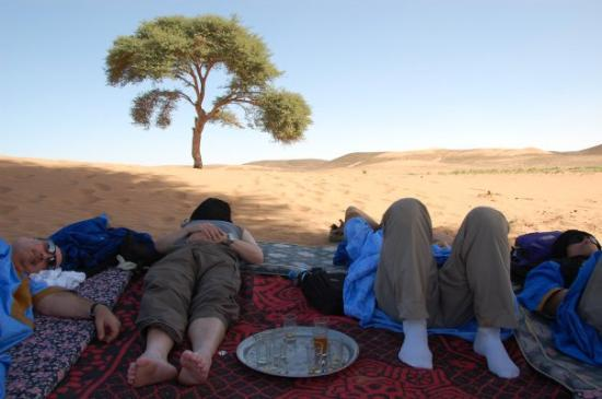 Moroccan Sahara: It was another tough afternoon in the Sahara.