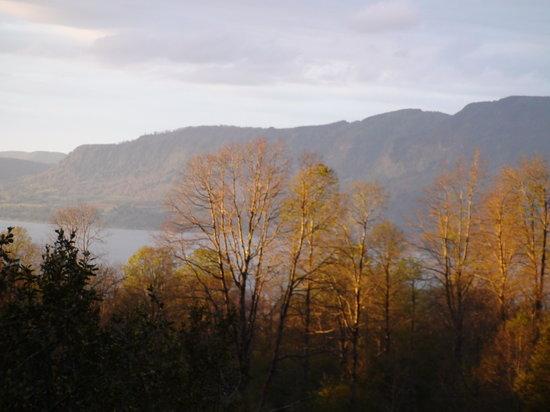 Bambu Lodge: Le lac Villarica vu d'une chambre