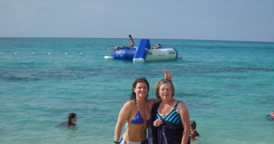 Cornwall Beach: Angie & Barbara in Jamaica at the beach party!