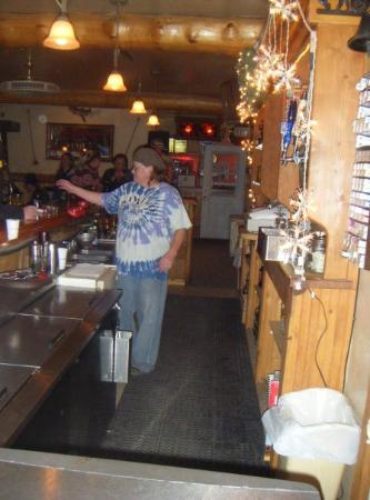 The Friendly Bar, Centennial, Wyoming (population 190) up in the Snowy Mountain Range. It was a
