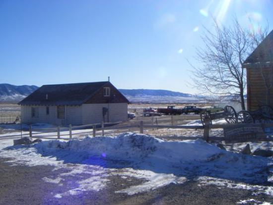 Centennial, Wyoming (population 190) up in the Snowy Mountain Range. Temerature was up to 0f or