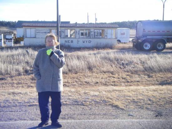 Bushnell, Небраска: Nebraska- Wyoming State line on US Highway 30