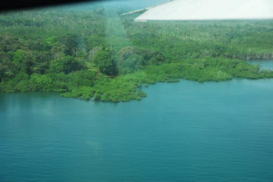 Aventuras Tropicales Golfo Dulce: Picture was taken from the plane.