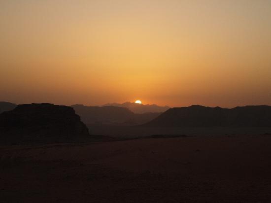 Wadi Rum Protected Area: Sunset