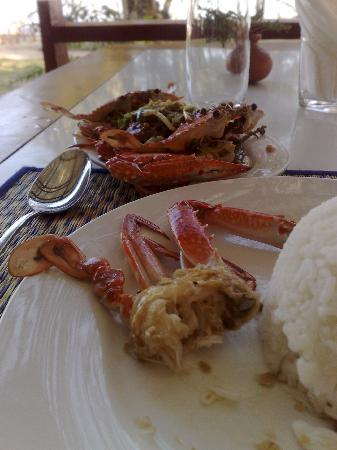 Breezes : The crabs in pepper sauce.