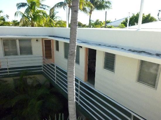 El Patio Motel: Das Zimmer lag im 1. Stock auf einen Innenhof