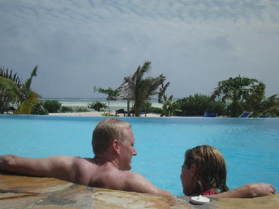 The Zanzibari : Relaxing by the pool with a rather nice view