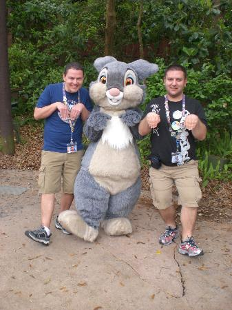 Walt Disney World, FL: Making a new friend with Thumper (from Bambi)