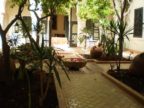 Riyad El Cadi: one of the central square's in this riad