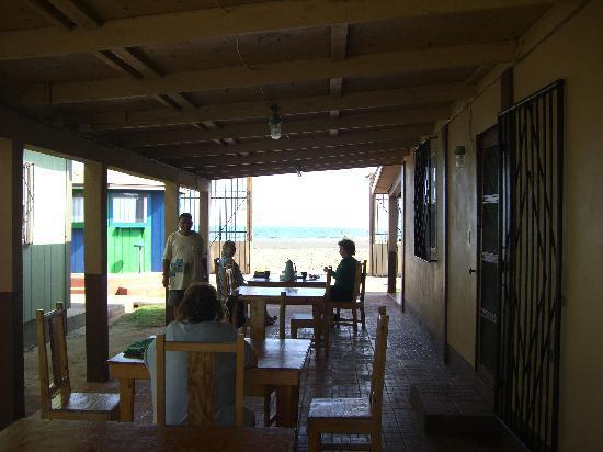 Cabanas Vientos del Norte: The breezeway patio