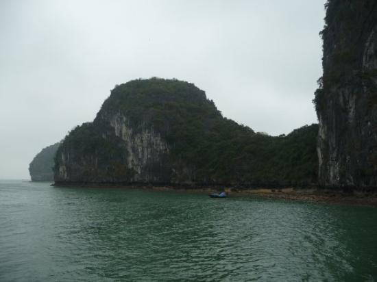 Halong Bay, Vietnam: Even though the weather was hazy, foggy, overcast, and drizzling for two days, the scenery was s