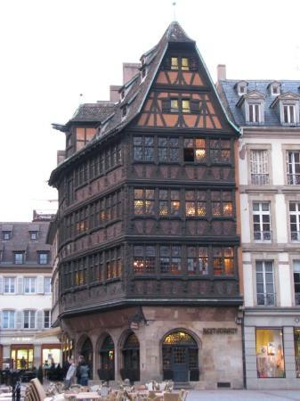maison kammerzell from outside picture of maison kammerzell strasbourg tripadvisor. Black Bedroom Furniture Sets. Home Design Ideas