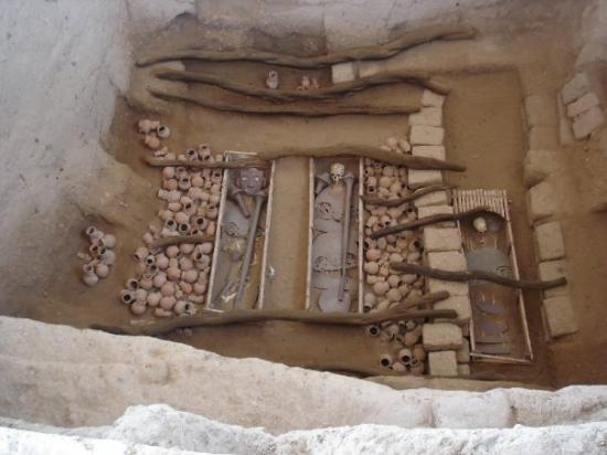 "Chiclayo, Peru: The burial of ""The Lord of Sipan""  Northern Peru."