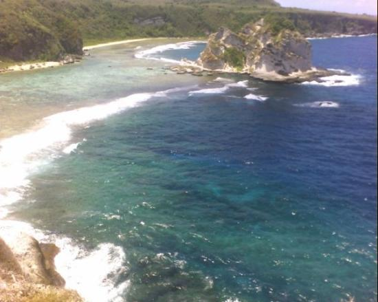 Saipan, Mariana Islands: View of bird island