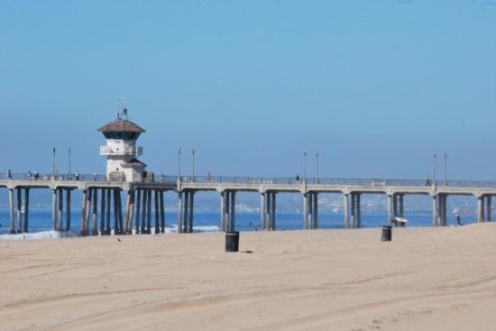 The Pier At Huntington Beach With Liuard Tower