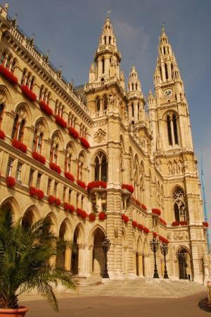 Rathaus (det nye rådhuset): Town Hall, Vienna.