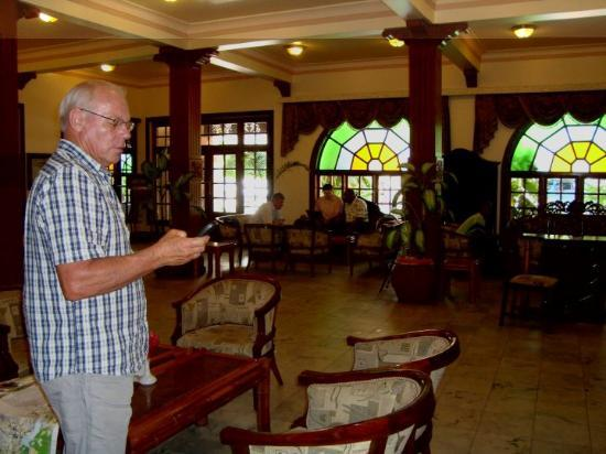 The lobby of the Protea Hotel Courtyard in Dar es Salaam