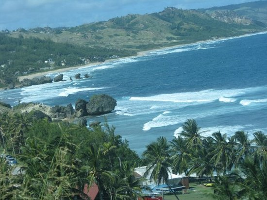 Bathsheba, a popular spot for surfers and surfing competitions in Barbados