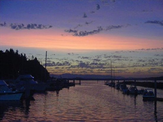 Blake Island State Park: I took this photo just after sunset at the marina on Blake Island in Puget Sound, just across fr
