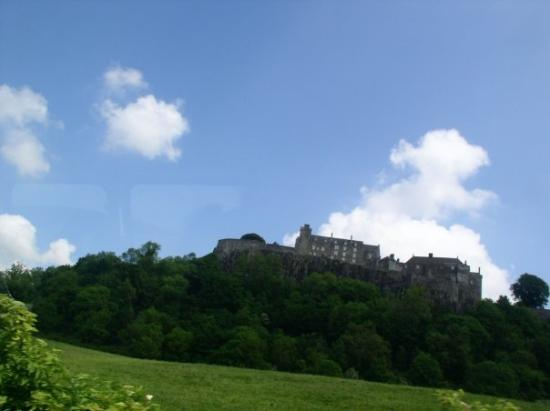 Stirling Castle in Stirling Scotland. Please forgive the photo quality. I shot this out the wind