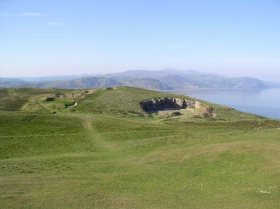 Llandudno, UK: There are stones arranged on the distant hillside to send a message. Can you see it?