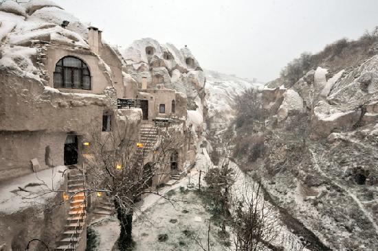 Gamirasu Cave Hotel: The day it snowed
